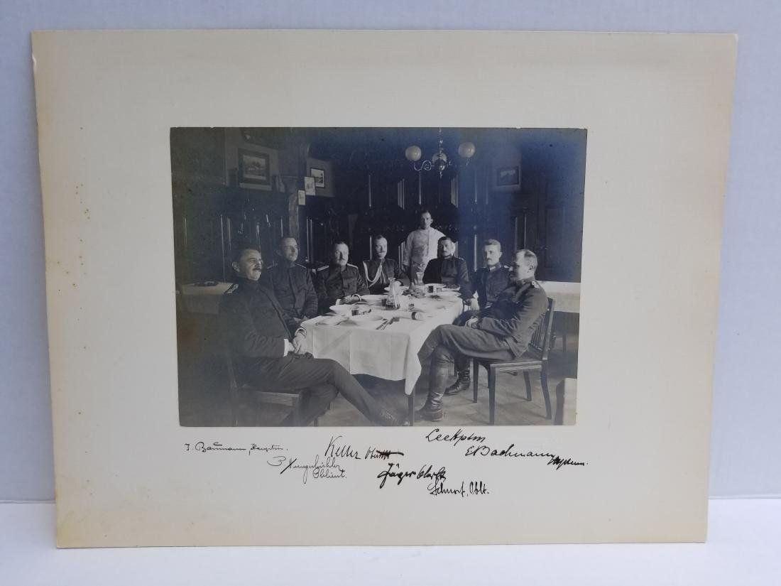 Original 1915 Photograph of Military. Signed