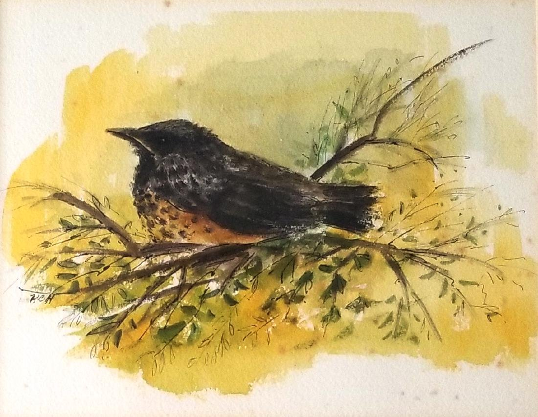 Watercolor Painting Signed KCH
