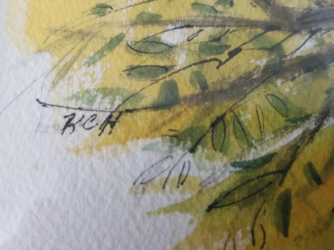 Watercolor Painting Signed KCH - 2