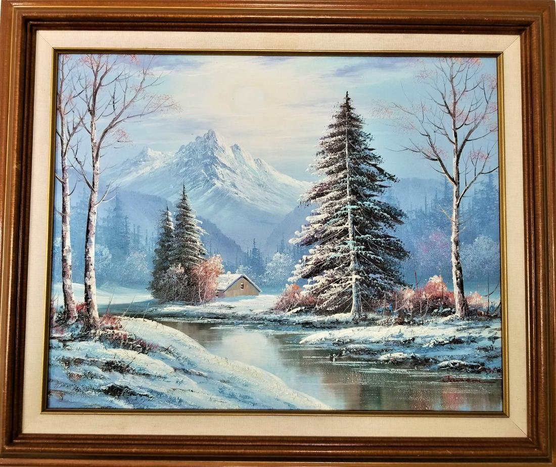 Acrylic Painting On Canvas Signed By the Artist