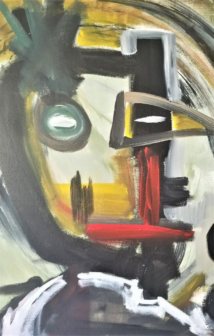 Abstract Painting On Canvas. - 2