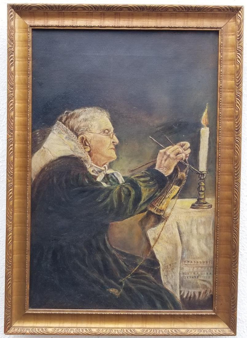 Original Vintage Oil Painting On Canvas