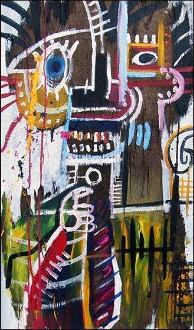 Basquiat Painting-Print on Canvas
