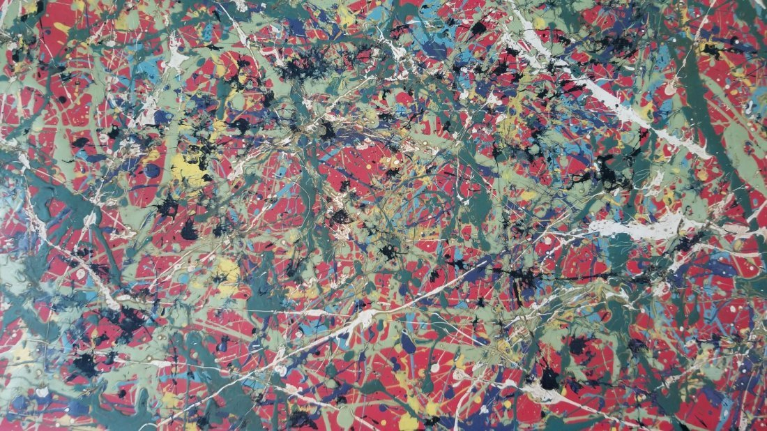 Jackson Pollock Painting on Canvas - 2