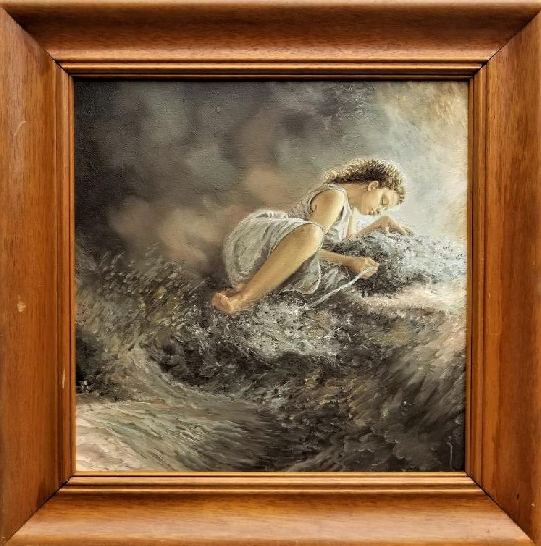 Original Oil Painting On Canvas. Water Source.