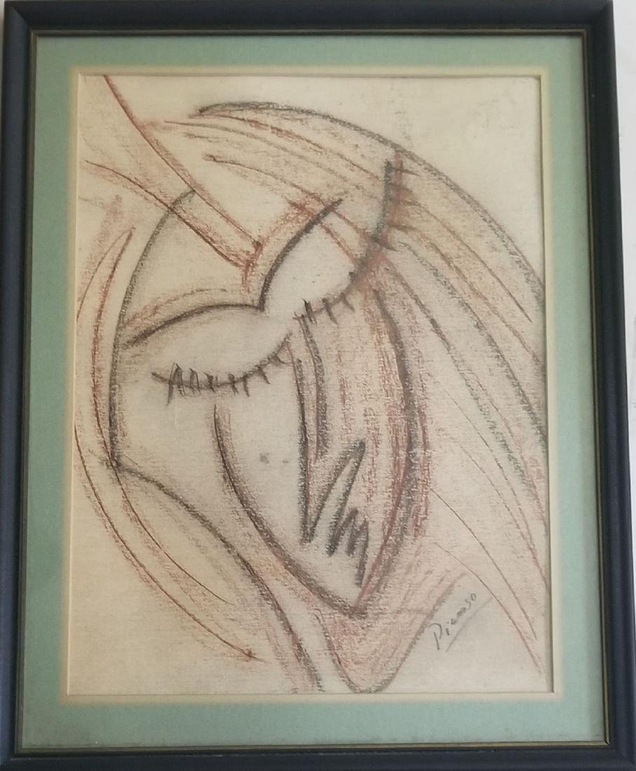 Pablo Picasso Vintage Drawing.