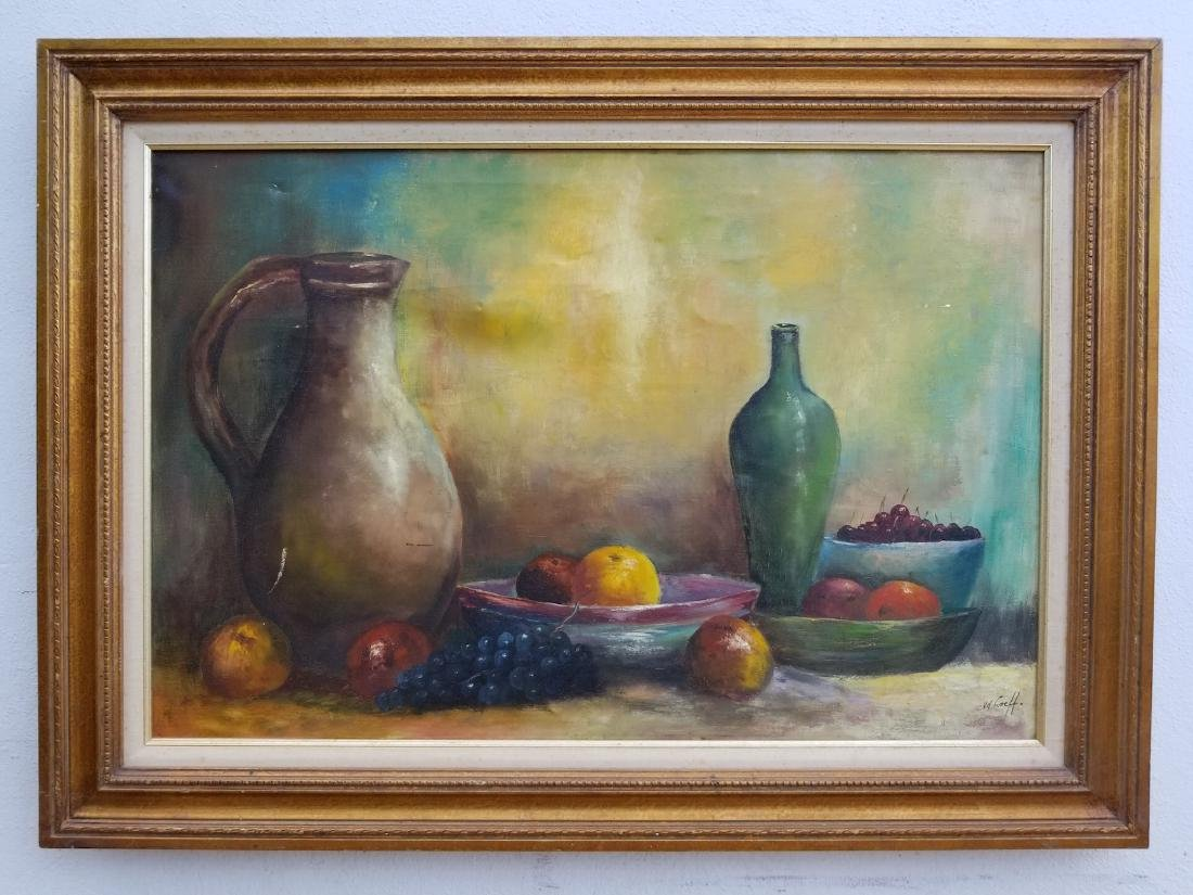 Original Antique Oil Painting V. D Loeff Signed