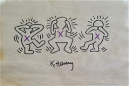 Keith Haring Painting on Paper New York