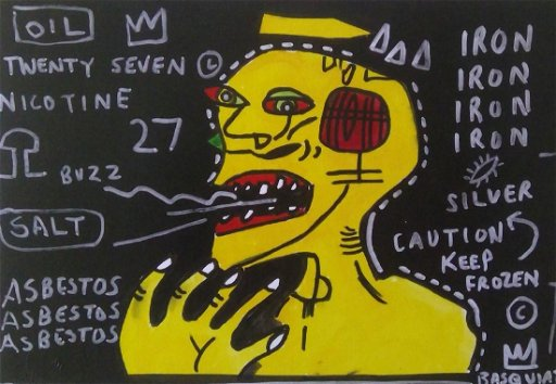 Basquiat Painting Print  New York Stamped  - Jul 08, 2019