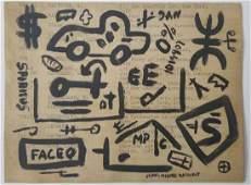 Jean-Michel Basquiat Painitng on Paper