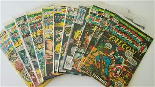Set of 11 Vintage Captain America Marvel Comics