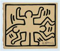 Keith Haring Painting on Paper New York Collection