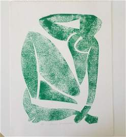 Henri Matisse Block Print on Paper.