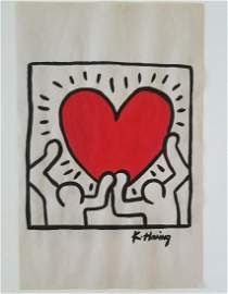 Keith Haring Painting on Paper