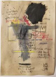 Abstract Expressionism Basquiat Mixed Media Signed