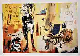 Abstract Expressionism Basquiat Style Print