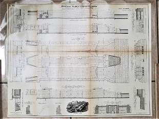 Collection of 15 Architecture 1860 plans