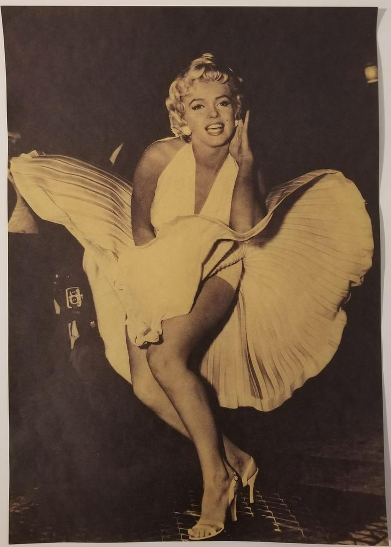 M. Monroe Flying Skirt Poster Print Size