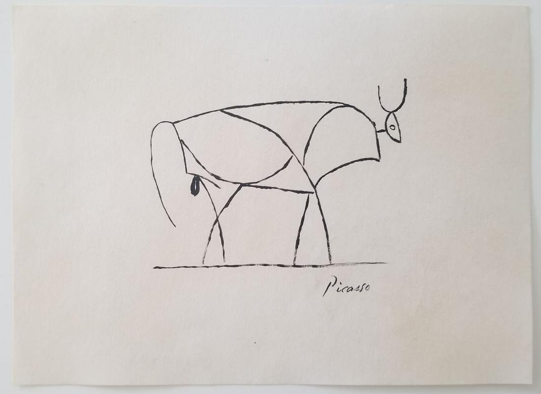 Pablo Picasso Painting on Paper