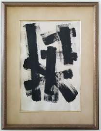Franz Kline Abstract Expressionism Painting on Paper