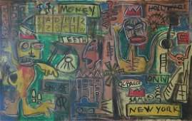 Jean-Michel Basquiat Abstarct Painting