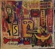 XL Jean-Michel Basquiat Painting