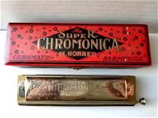 Vintage M.Hohner Chromatic Harmonica Germany