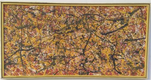 In the Style of Jackson Pollock Abstract Painting on