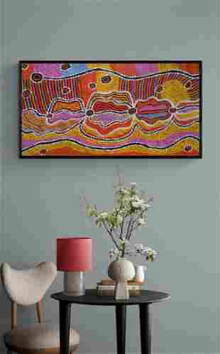 Abstract Oil Painting on Canvas By James P.
