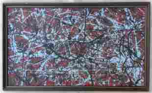 Jackson Pollock Abstract Painting in the manner of