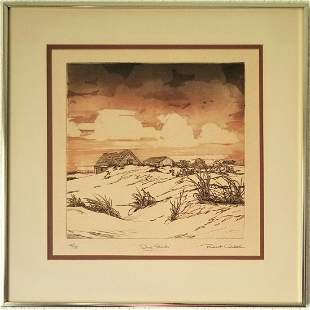 Robert Clibbon Etching. Signed