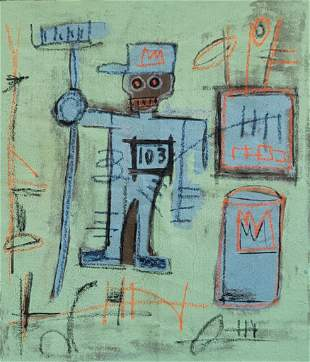 JMB Painting on Canvas. In the manner of