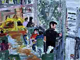 Original Acrylic Expressionist Painting on Canvas