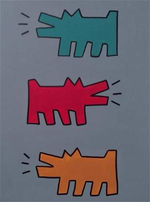 Keith Haring painting in the manner of