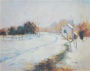 John Twachtman Oil Painting on Canvas