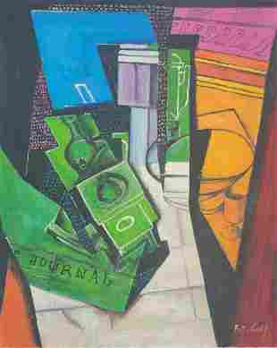 Juan Gris Oil Painting on Canvas