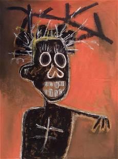 65 x 73 Jean-Michel Basquiat Painting on Canvas