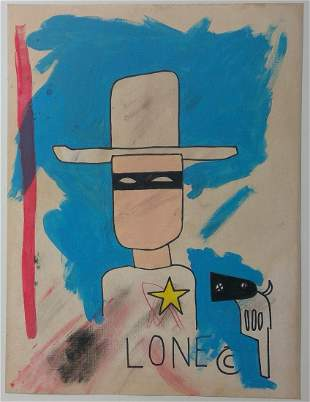 Jean-Michel Basquiat Painting on paper