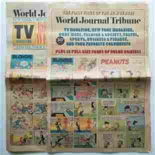 Set of 2 Vintage World Journal Tribute Newspaper