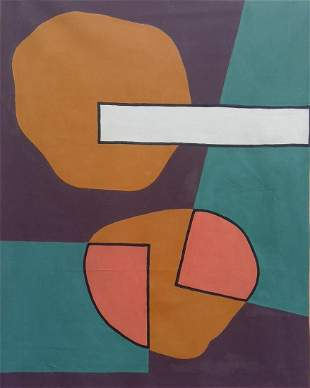 """65 x 73"""" Contemporary Abstract Painting on Canvas"""