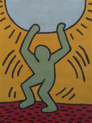 Keith Haring Painting on canvas