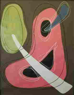 Contemporary Abstract Mixed Media Painting.