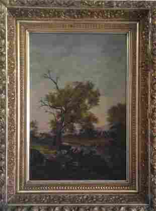 Original Antique Oil Painting Framed and Signed