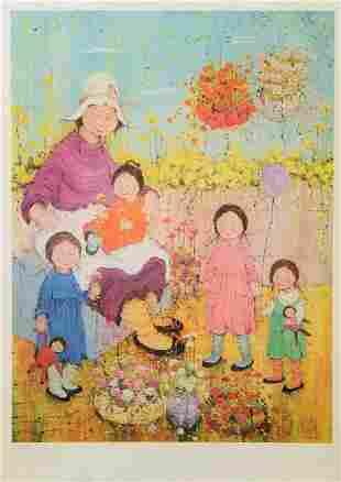 Vintage Print Signed & Stamped. Mildred Barrett