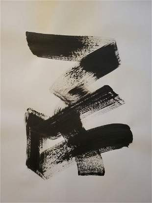 Contemporary abstract ink on paper
