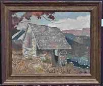 Eric Sloane orignal Oil on Board - Well listed Artist