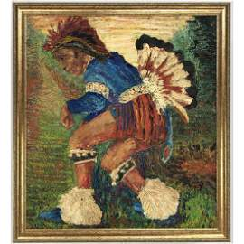 DAVID BURLIUK -Well listed artist - Native American