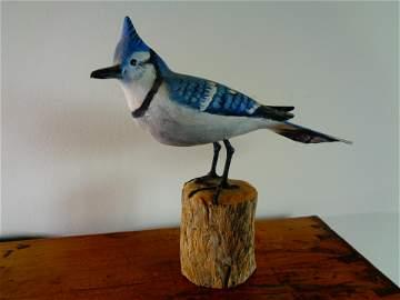 Blue jay- Peter Peltz hand painted