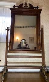 Full length Architectural antique church mirror