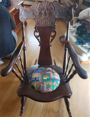 Antique/vintage wooden rocking chair